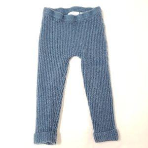 Zara Baby Ribbed Cashmere Leggings Cuffed Bottom